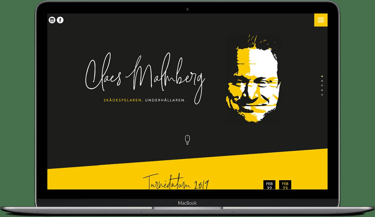 Claes Malmberg hemsida