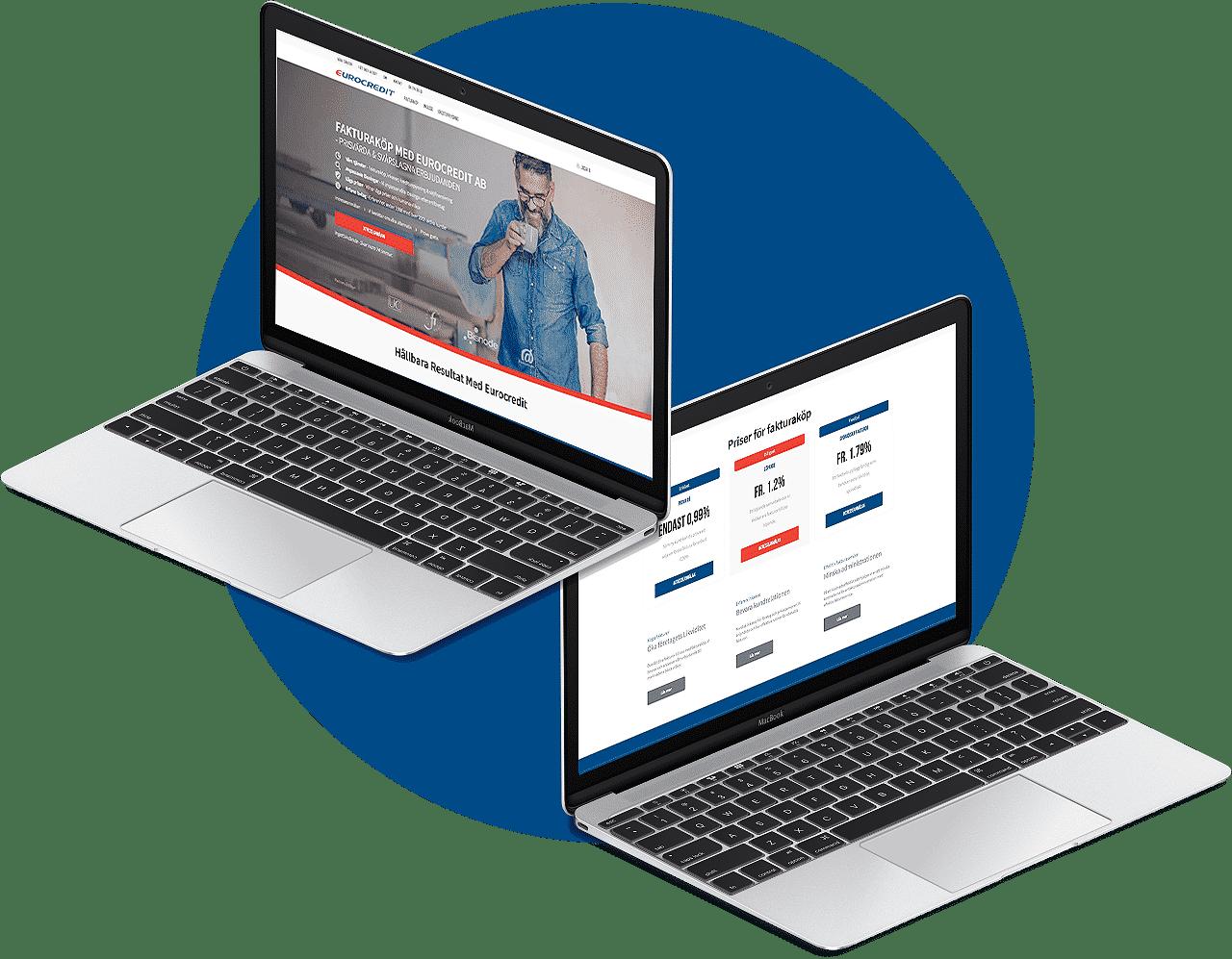 Eurocredit design av hemsida