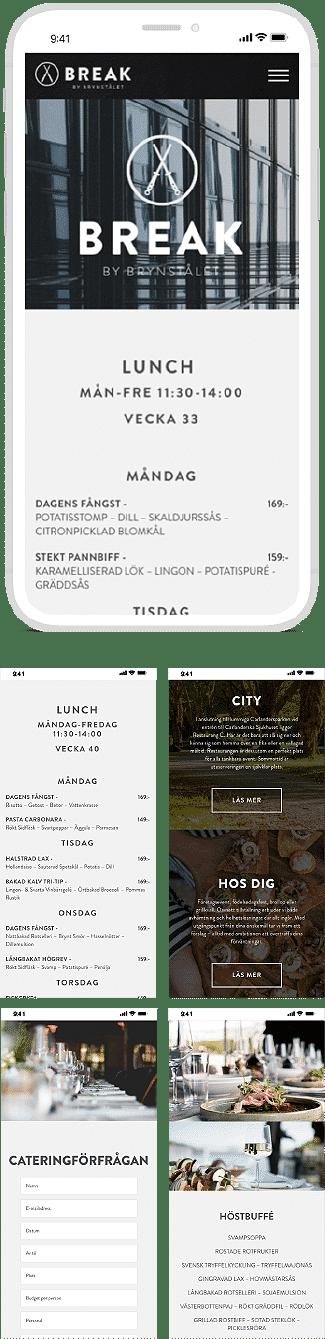 Responsiv design webbprojekt